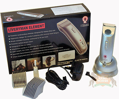 Clippers Trimmers Horse Dogs LIVERYMAN ELEMENT Cordless
