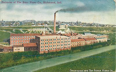 c1910 Factories Of The Starr Piano Company, RIchmond, Indiana Postcard