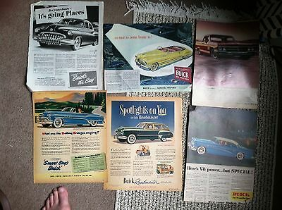 50 1950s  BUICK Classic Car AD all LARGE POST SIZE  20c ea LOT #2 14 are 2 PAGE