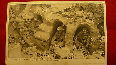 WW1 Daily Mail Tommy German dug out postcard world war 1 war pictures 1919 #657