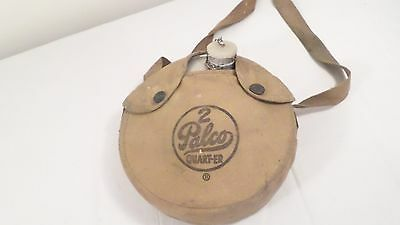 Vintage Palco 2 Quart-er Aluminum Canteen in Case with Strap
