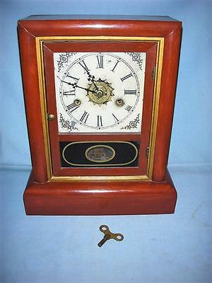 Gilbert Manfg. Co, Winsted Conn 8 Day, 30 Hour Mantel Clock, Chimes, with Key