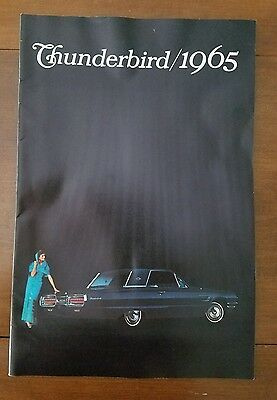 Original 1965 FORD THUNDERBIRD DEALER SALES BROCHURE large