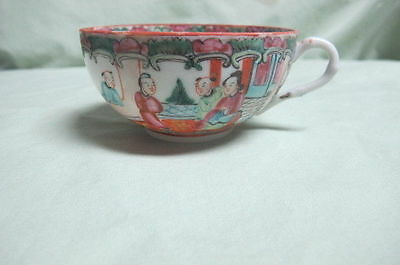 Antique 19th Century Chinese Export Rose Medallion Porcelain Cup