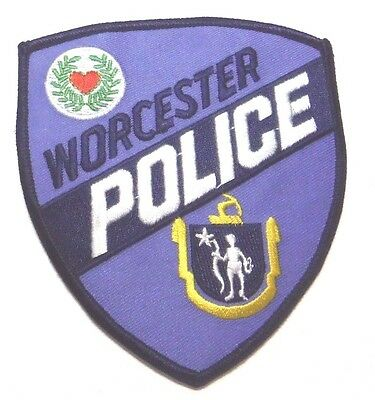 Worcester Massachusetts Police Patch Unused