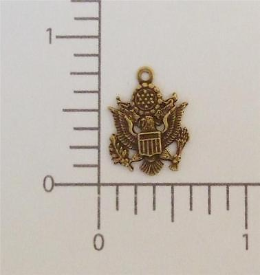 57611        Antique Gold US Army Charm Jewelry Finding