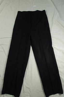 Vtg 40s 50s Black Gabardine Hollywood Waist Dress Pants Slacks 32x30.5 VLV Rare