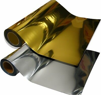 "METALLIC SILVER / GOLD Heat press vinyl cutter material 20"" x 12"" 6 rolls 3+3"