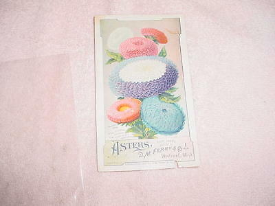 D.m. Ferry & Co - Asters -  Advertising Victorian Trade Card 1889