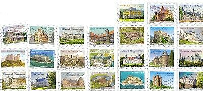 France Lot of 24 Used Different Stamps between 2000 and 2016
