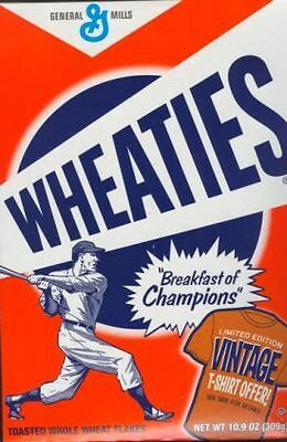Wheaties Baseball Cereal Box, Vintage T-Shirt Offer