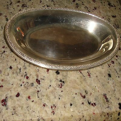 "11"" Sterling Silver International Prelude J57 Platter Tray Bread Dish Oval Plate"