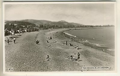 A Real Photo Post Card of The Beach, Blue Anchor. Somerset.