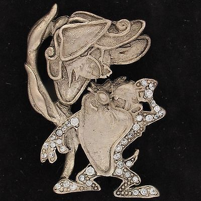 PIN BROOCH Taz Devil WARNER BROS LOONEY TUNES 1.23 tcw CZ Pewter WB STORE 5453