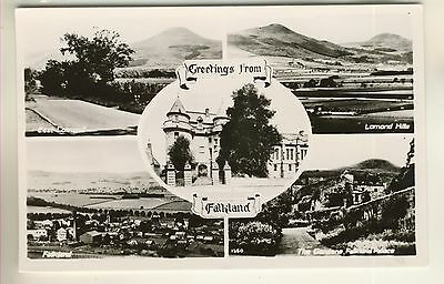 A Real Photo Multiview Post Card of Falkland. Fife