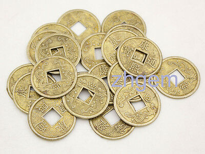 Lot 100 pcs replica china Qing Dynasty double Dragon 23mm Alloy coins feng shui