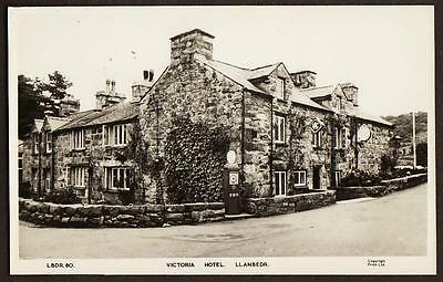 REAL PHOTO POSTCARD VICTORIA HOTEL LLANBEDR VILLAGE MERIONETHSHIRE WALES c1955