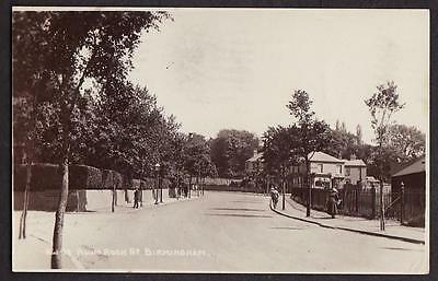 Original Real Photo Postcard Alum Rock Road Birmingham Warwickshire Posted 1922