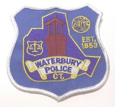 Waterbury Connecticut Police Patch Unused