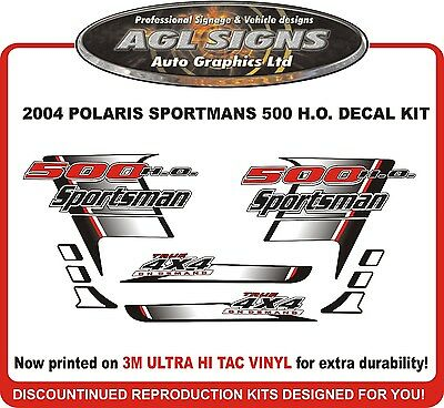 2004 POLARIS  Sportsman 500 H.O. 4X4 Decal kit  reproductions  HO