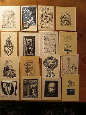 Vintage Ex Libris Job Lot ,16 pieces