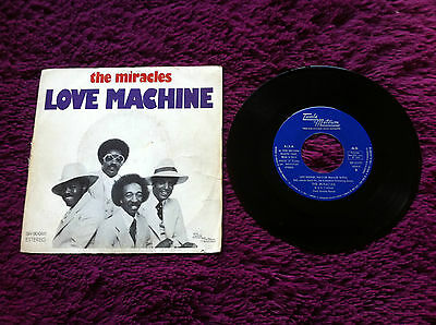 "The Miracles ‎– Love Machine , Vinyl, 7"", Single, 45 RPM"