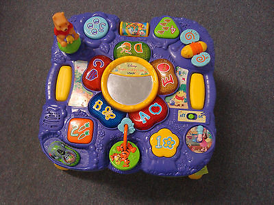 VTECH DISNEY Explore and Learn POOH Activity Table **read condition notes**