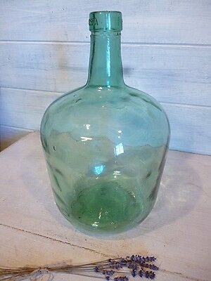 Bonbonne Dame Jeanne Tourie Verre soufflé Vintage large glass bottle