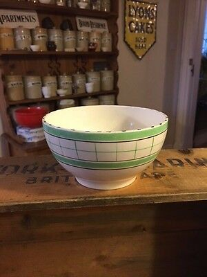 Vintage British Anchor Cottage Green – Open Sugar Bowl / Basin – Great! –