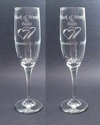 Charisma  Wedding Toasting Glasses,Flutes, Engraved