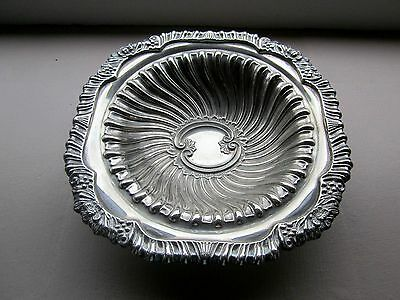 Heavy Vintage Silver Plated Footed Dish for Nuts Sweets etc