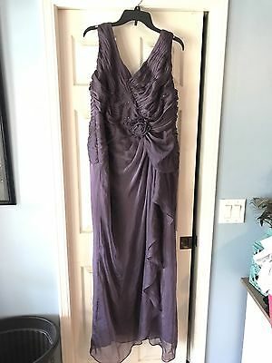 Adrian Papell Occasions Beautiful Mother Of The Bride Long Dress Plus Size 18w