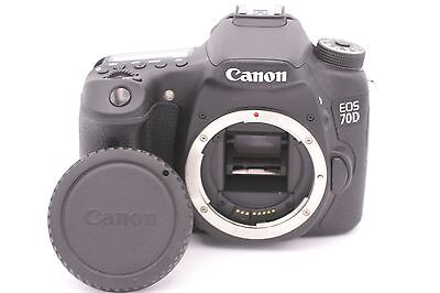Canon EOS 70D 20.2MP Digital SLR Camera - Black (Body Only) - Shutter Count: 471