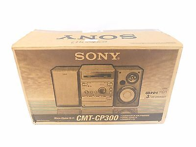 SONY CMT-CP300 Micro Component Hi-fI System Silver 3 CD Double Cassette - C76