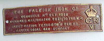 THE FALKIRK IRON Co  IRON  MAKERS PLATE