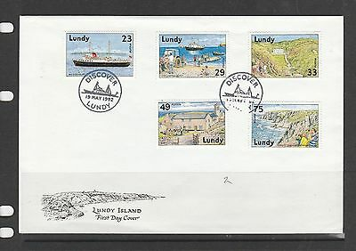 Lundy island FDC 1992 Discovering Lundy, Cat Nos 282-86