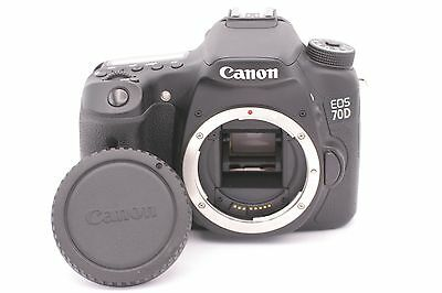 Canon EOS 70D 20.2MP Digital SLR Camera - Black (Body Only) - Shutter Count: 888