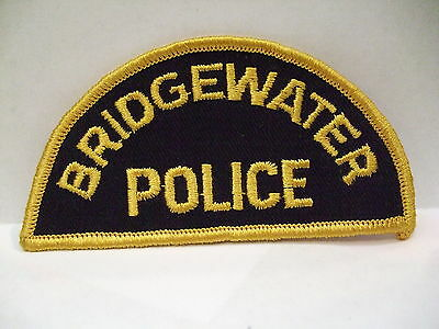 police patch  BRIDGEWATER POLICE NOVA SCOTIA  CANADA  1/2 MOON STYLE