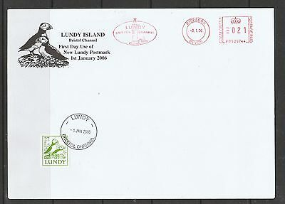 Lundy island 2006 Cover, new type of Lundy Pmk, with 27 puffin stamp
