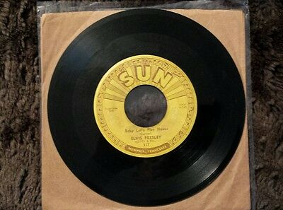 Elvis Presley Sun 217 45 Baby Let's Play House / I'm Left You're Push Marks VG-