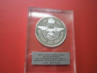 Bsc .999 Silver Proof Medal The Battle Of Britain(Number 8)