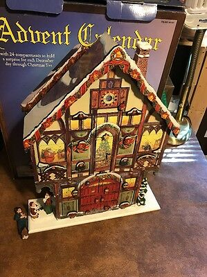 Costco Large Wood Christmas House Advent Calendar with 24 Wooden Doors