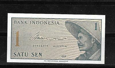 Indonesia #90A 1964 Uncirculated Old Vintage Sen Banknote Bill Note Paper Money