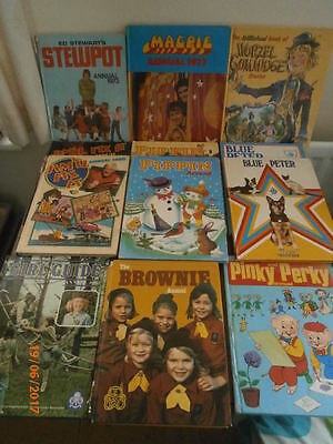 JOB LOT VINTAGE CHILDREN'S ANNUALS MOSTLY 1970's