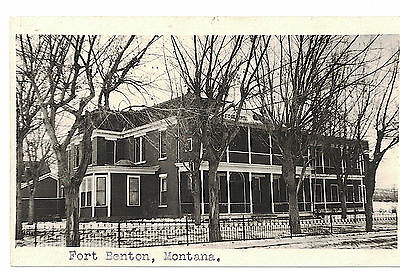 U.s.a. Antique Photo Postcard St Claire Hospital : Fort Benton Montana