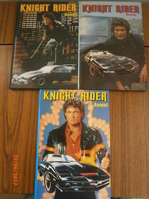 Job Lot Of Vintage Knightrider Annuals