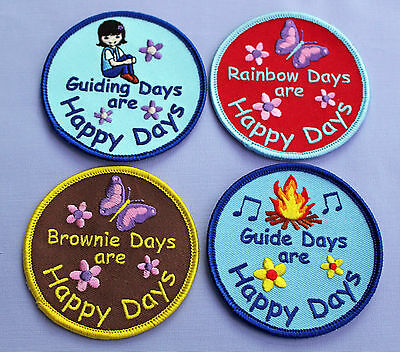 Girl Guides Guiding Brownies Rainbows Happy Days Fun Badge - Multibuy Discounts