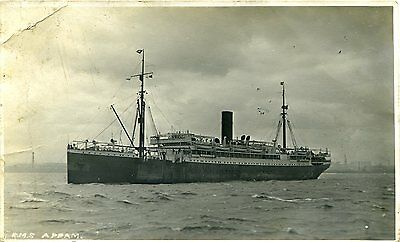 Rms Appam - African Steamship Co - Old Real Photo Postcard