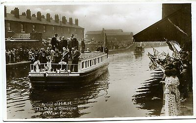 Wigan Pier - Arrival Of Hrh Duke Of Gloucester - Old Real Photo Postcard View