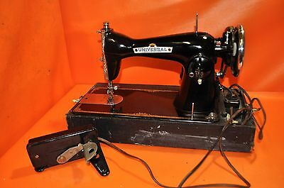 INDUSTRIAL STRENGTH HEAVY DUTY UNIVERSAL SEWING MACHINE SEW LEATHER w/CASE